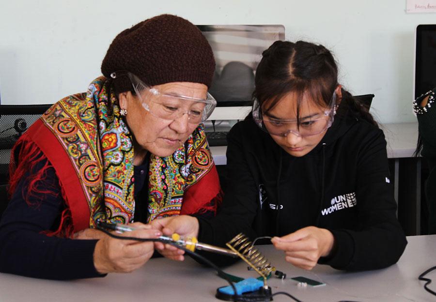 Central Asian women
